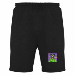 Мужские шорты Billy Eilish on purple background