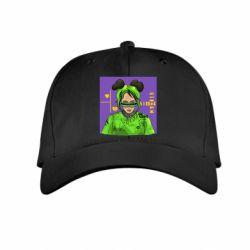 Детская кепка Billy Eilish on purple background