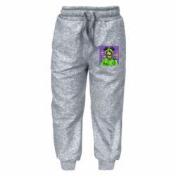 Детские штаны Billy Eilish on purple background
