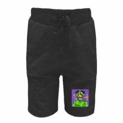 Детские шорты Billy Eilish on purple background