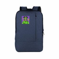 Рюкзак для ноутбука Billy Eilish on purple background