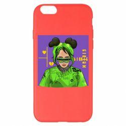 Чехол для iPhone 6 Plus/6S Plus Billy Eilish on purple background