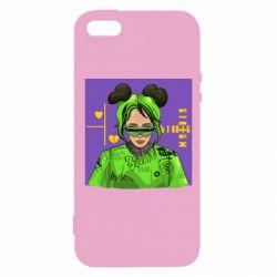 Чехол для iPhone5/5S/SE Billy Eilish on purple background