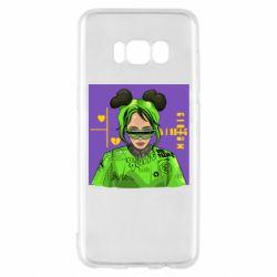 Чехол для Samsung S8 Billy Eilish on purple background