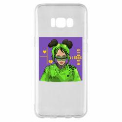 Чехол для Samsung S8+ Billy Eilish on purple background