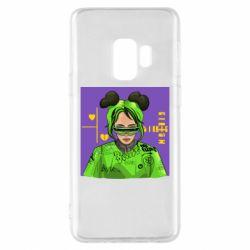 Чехол для Samsung S9 Billy Eilish on purple background