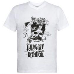 Чоловіча футболка з V-подібним вирізом Більше рази не вмирати і козак