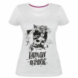 Жіноча стрейчева футболка Більше рази не вмирати і козак