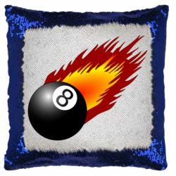 Подушка-хамелеон Бильярдный шар в огне