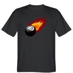 Футболка Бильярдный шар в огне