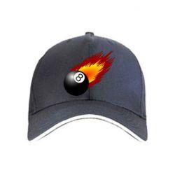 Кепка Бильярдный шар в огне