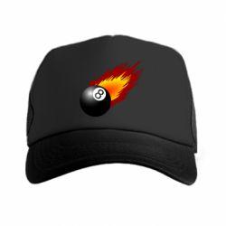 Кепка-тракер Бильярдный шар в огне