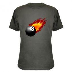 Камуфляжная футболка Бильярдный шар в огне