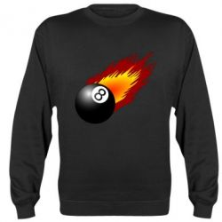Реглан (свитшот) Бильярдный шар в огне