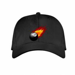 Детская кепка Бильярдный шар в огне