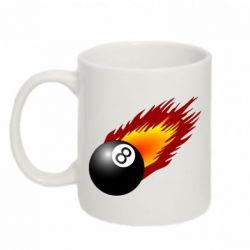 Кружка 320ml Бильярдный шар в огне