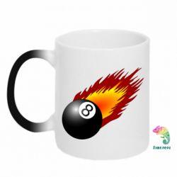 Кружка-хамелеон Бильярдный шар в огне