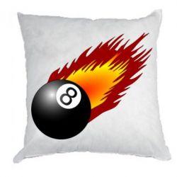 Подушка Бильярдный шар в огне