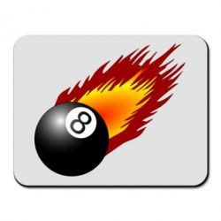 Коврик для мыши Бильярдный шар в огне