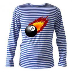 Тельняшка с длинным рукавом Бильярдный шар в огне