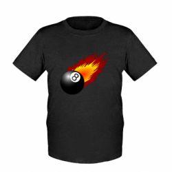 Детская футболка Бильярдный шар в огне