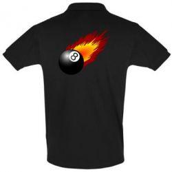 Мужская футболка поло Бильярдный шар в огне