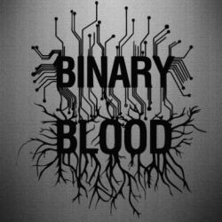 Наклейка Binary Blood