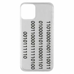 Чехол для iPhone 11 Binary code