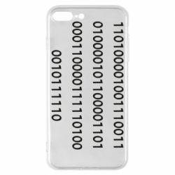 Чехол для iPhone 8 Plus Binary code
