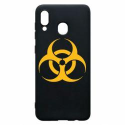 Чехол для Samsung A20 biohazard