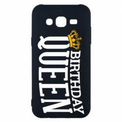 Чехол для Samsung J5 2015 Birthday queen and crown yellow