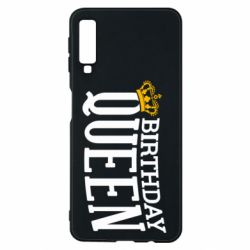 Чехол для Samsung A7 2018 Birthday queen and crown yellow
