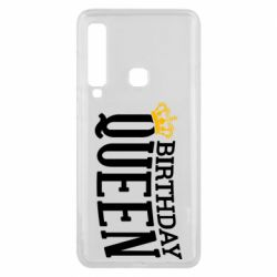 Чехол для Samsung A9 2018 Birthday queen and crown yellow