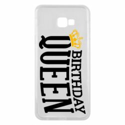 Чехол для Samsung J4 Plus 2018 Birthday queen and crown yellow