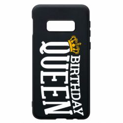Чехол для Samsung S10e Birthday queen and crown yellow
