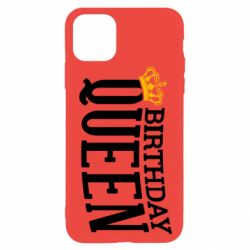 Чехол для iPhone 11 Pro Birthday queen and crown yellow