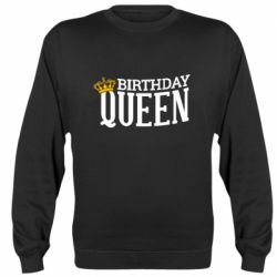 Реглан (свитшот) Birthday queen and crown yellow