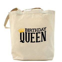 Сумка Birthday queen and crown yellow