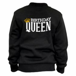 Детский бомбер Birthday queen and crown yellow