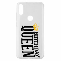 Чехол для Xiaomi Mi Play Birthday queen and crown yellow