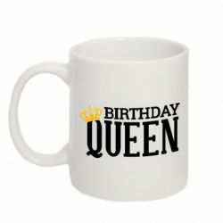 Кружка 320ml Birthday queen and crown yellow
