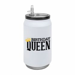 Термобанка 350ml Birthday queen and crown yellow
