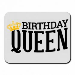 Коврик для мыши Birthday queen and crown yellow