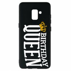 Чехол для Samsung A8+ 2018 Birthday queen and crown yellow