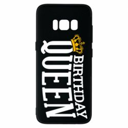 Чехол для Samsung S8 Birthday queen and crown yellow