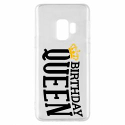 Чехол для Samsung S9 Birthday queen and crown yellow