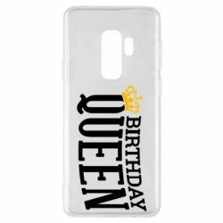 Чехол для Samsung S9+ Birthday queen and crown yellow