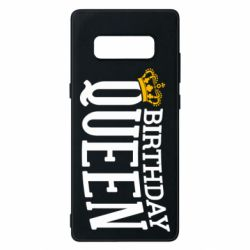 Чехол для Samsung Note 8 Birthday queen and crown yellow