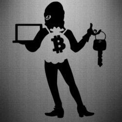 Наклейка Bitcoin and money