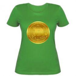 Жіноча футболка Bitcoin coin